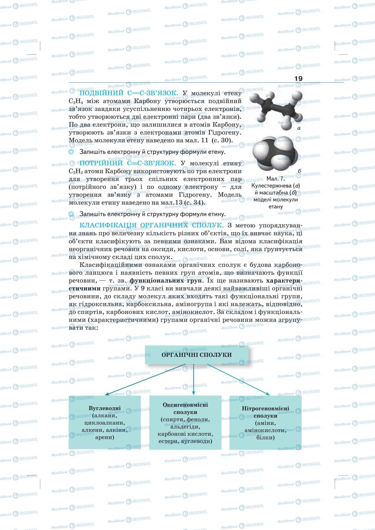 Підручники Хімія 10 клас сторінка 19