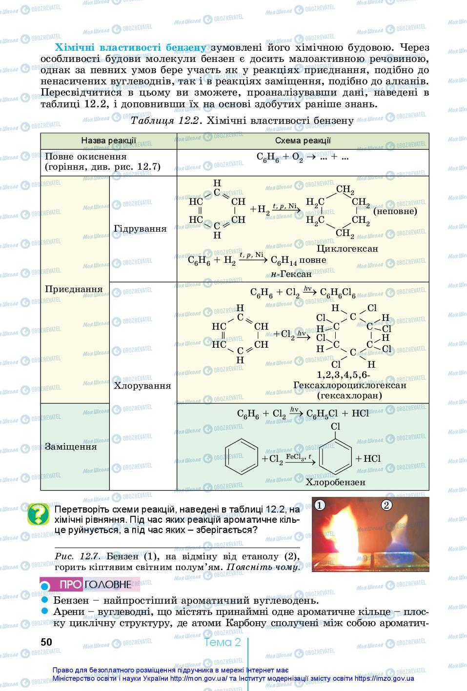 Учебники Химия 10 класс страница 50