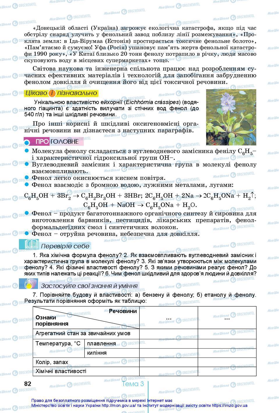 Учебники Химия 10 класс страница 82