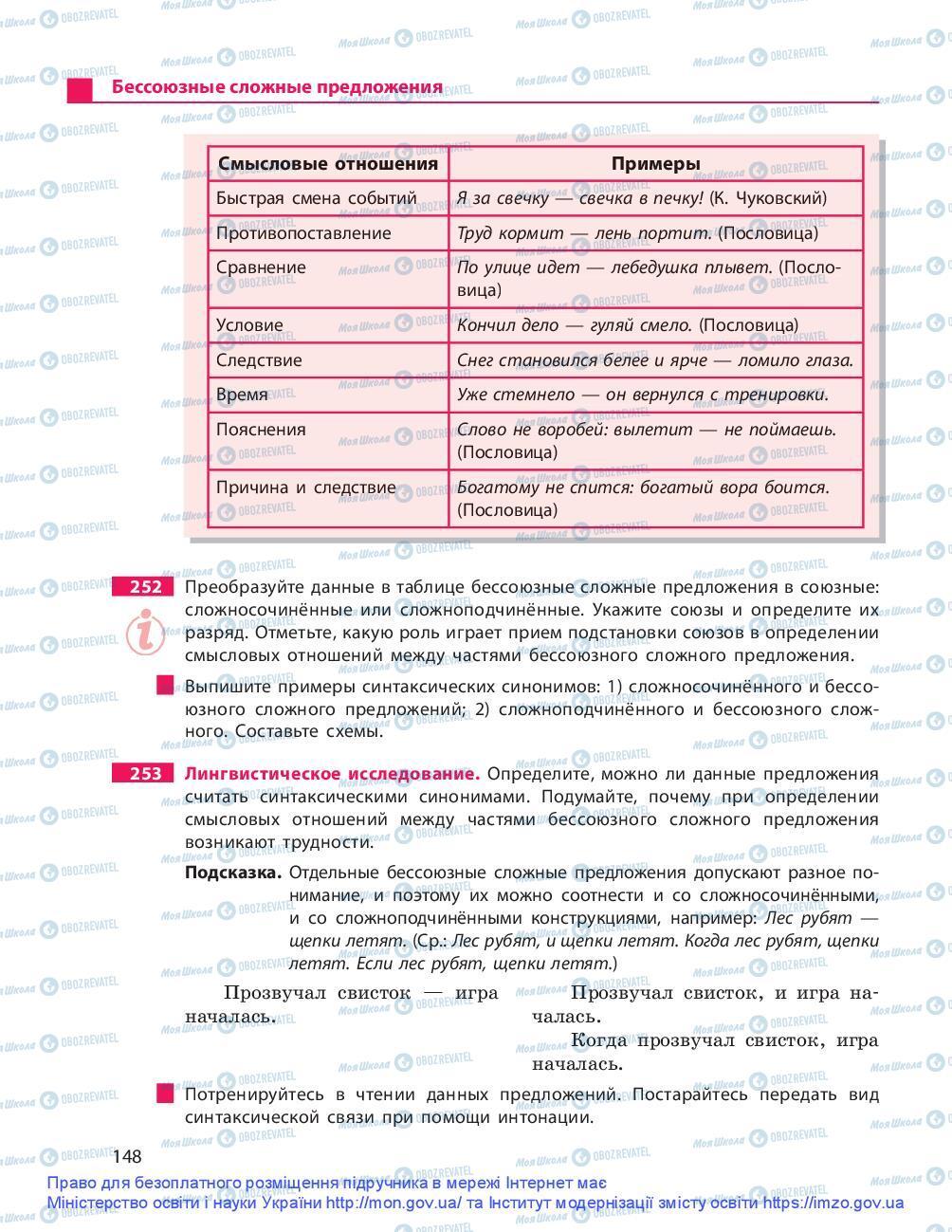Учебники Русский язык 9 класс страница 148