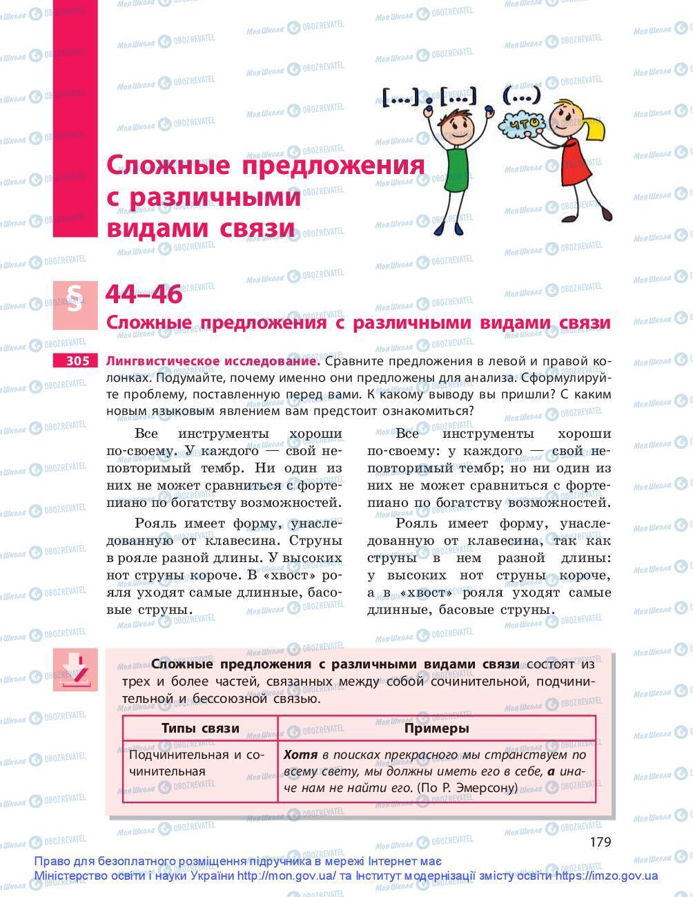 Підручники Російська мова 9 клас сторінка 179