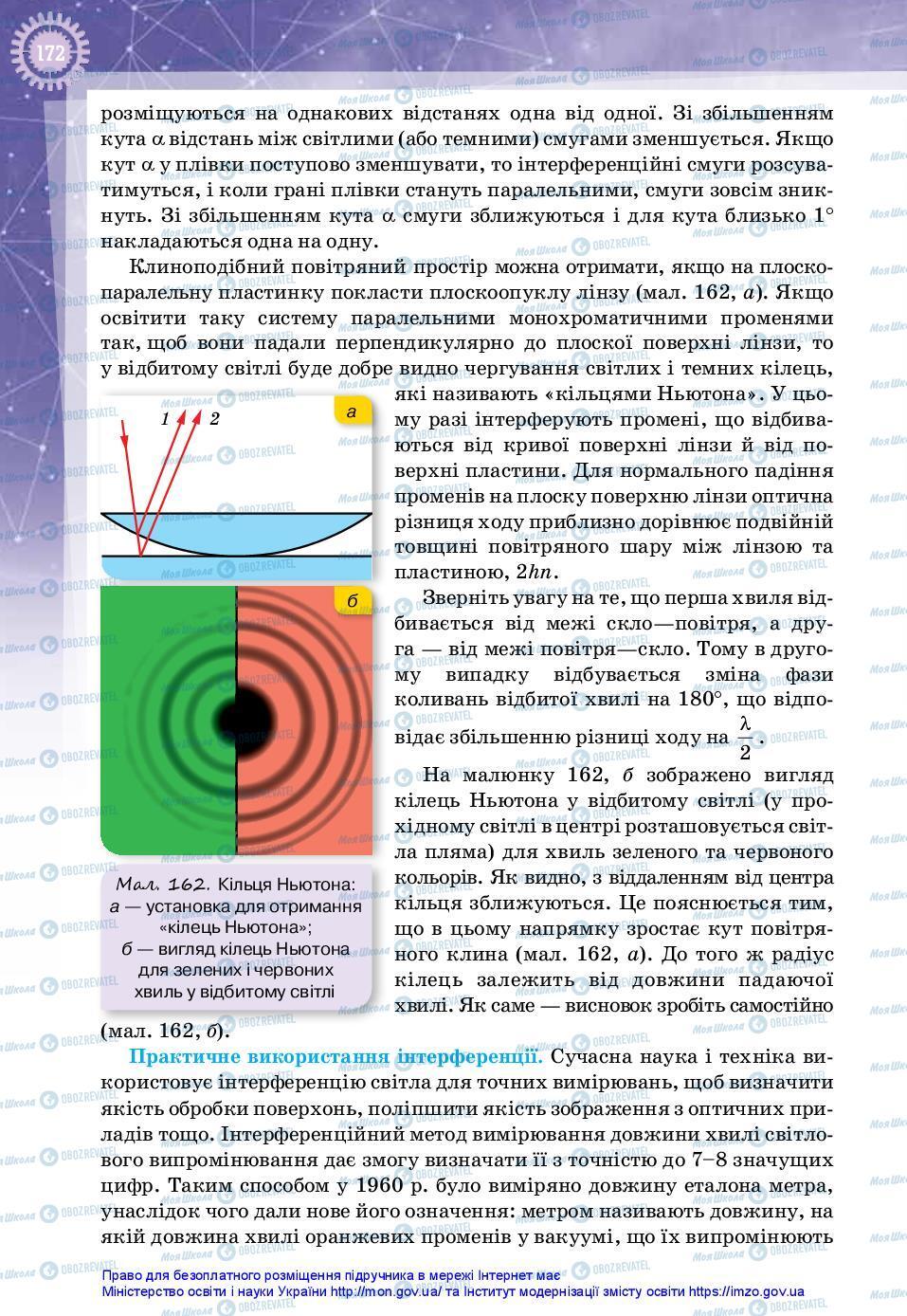 Підручники Фізика 11 клас сторінка 172