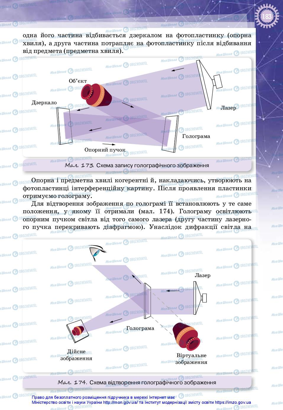 Підручники Фізика 11 клас сторінка 183