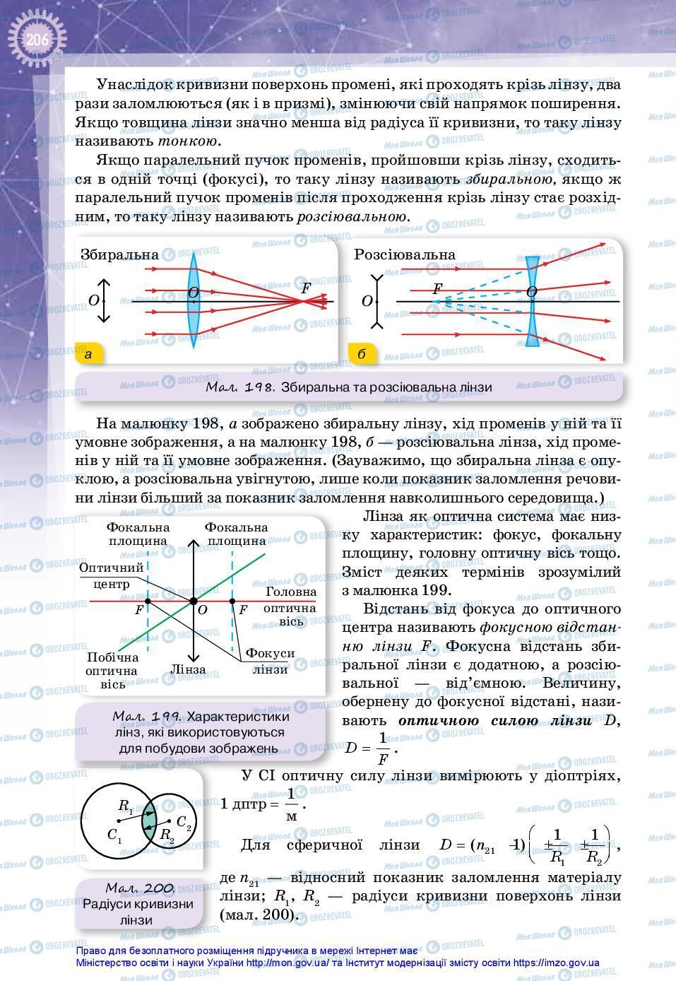 Підручники Фізика 11 клас сторінка 206