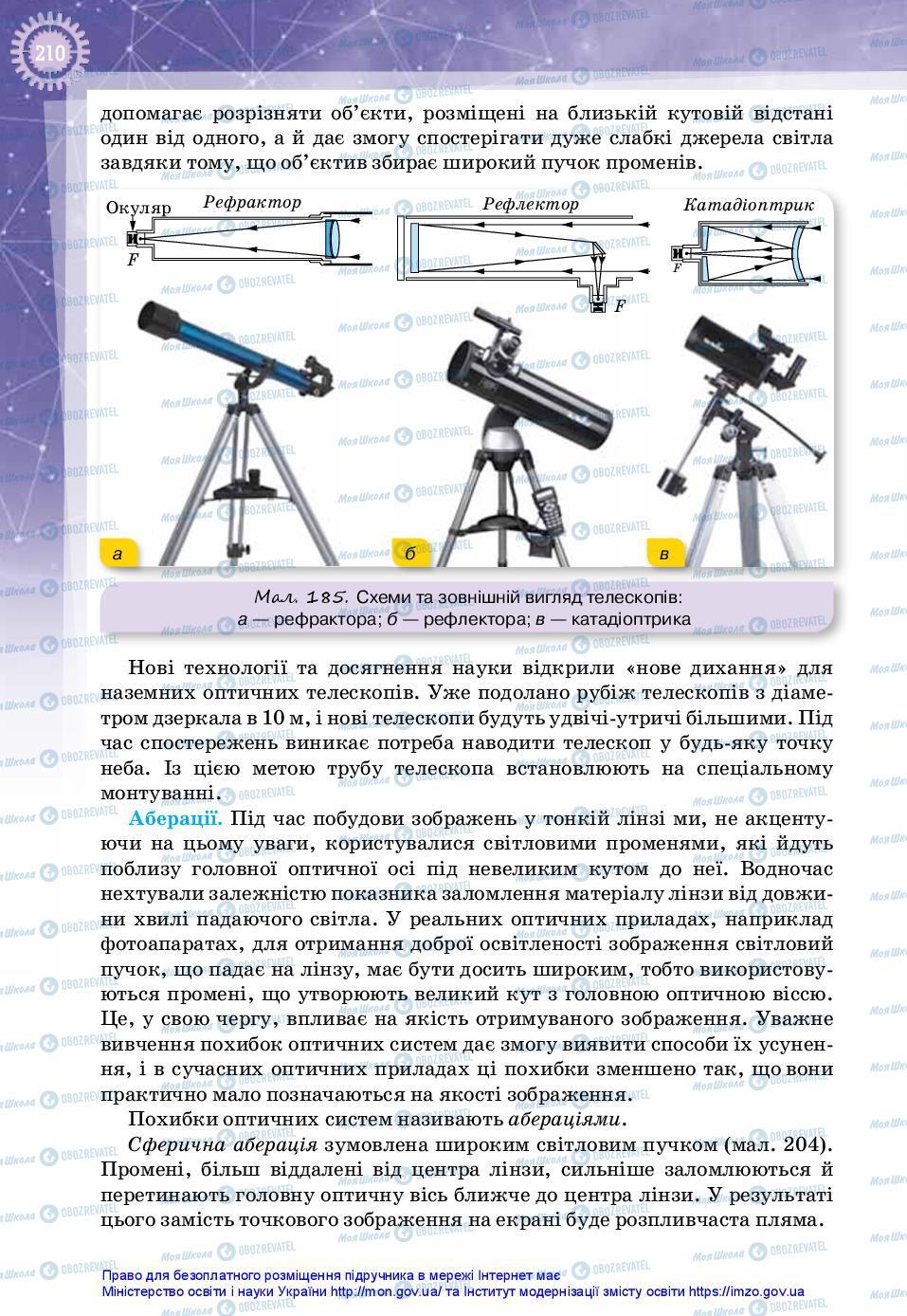 Підручники Фізика 11 клас сторінка 210
