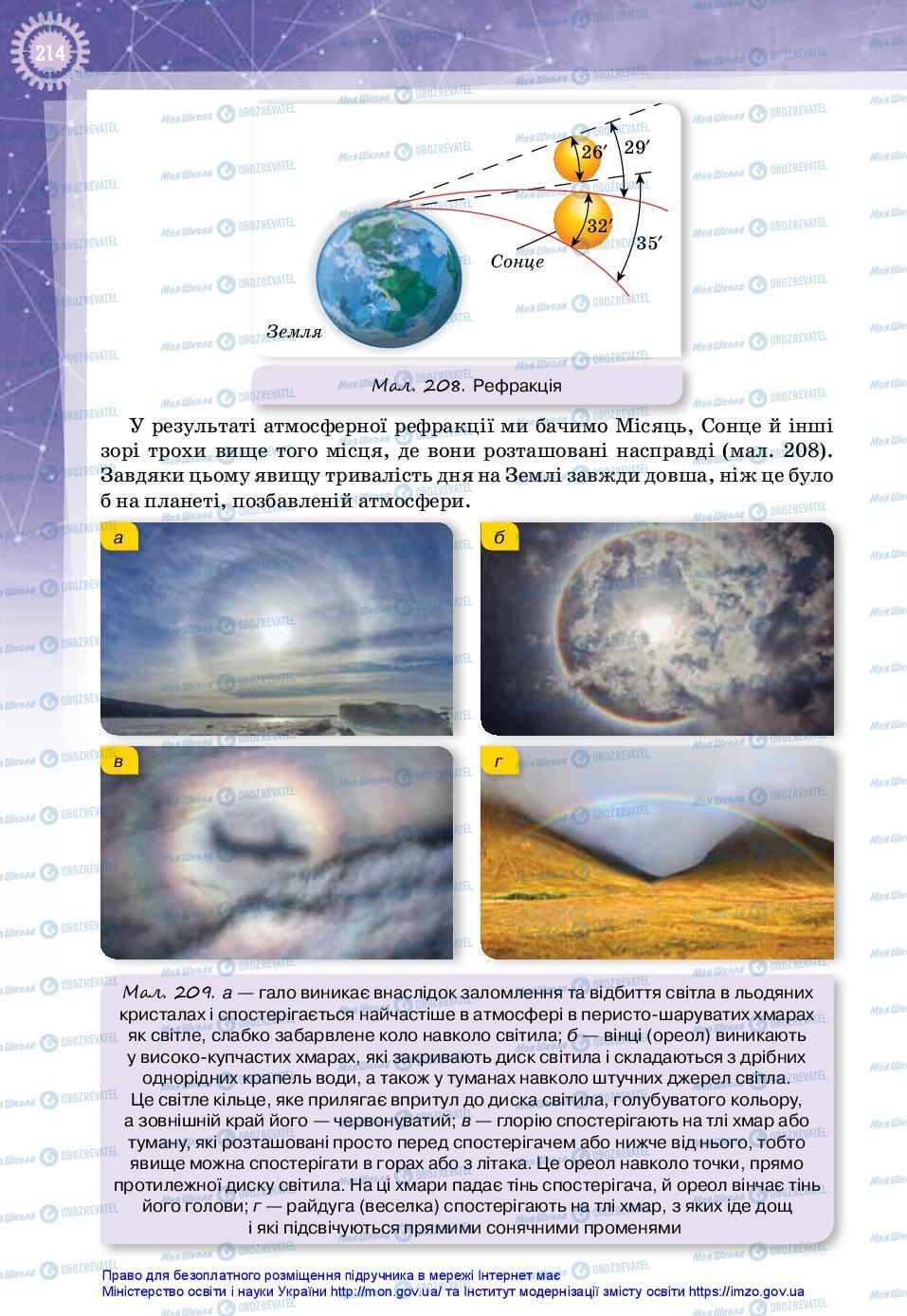 Підручники Фізика 11 клас сторінка 214