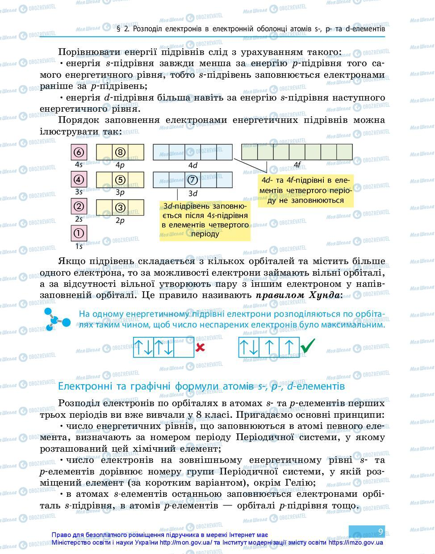 Учебники Химия 11 класс страница 9