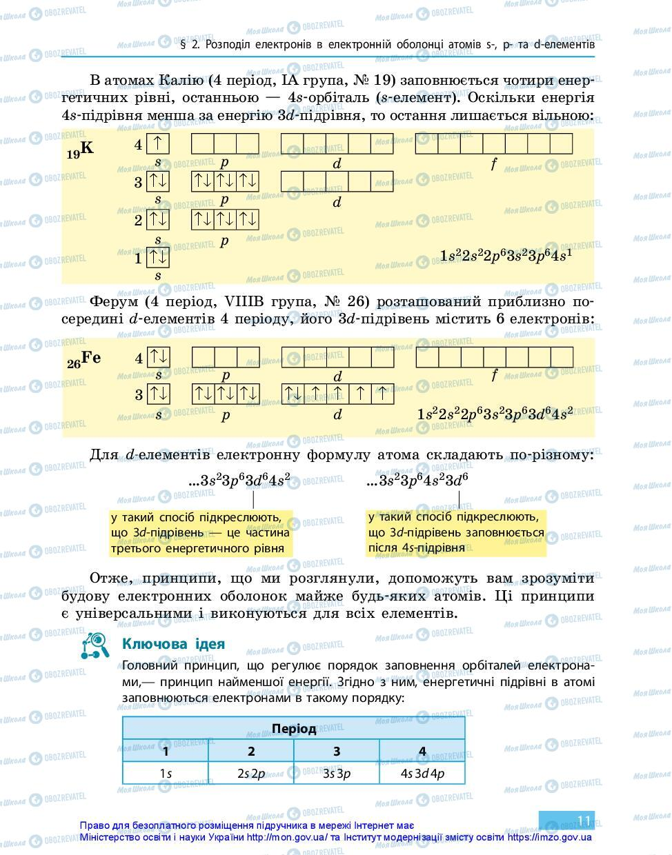 Підручники Хімія 11 клас сторінка 11