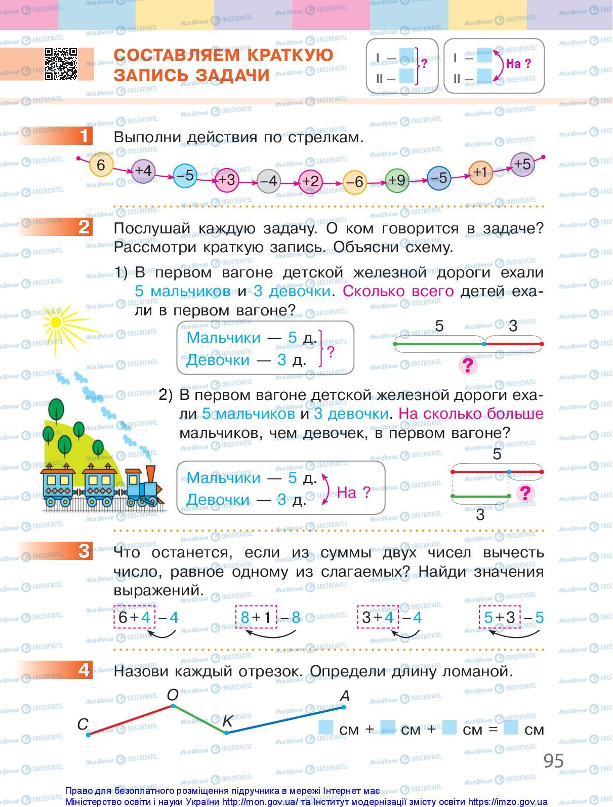 Учебники Математика 1 класс страница 95