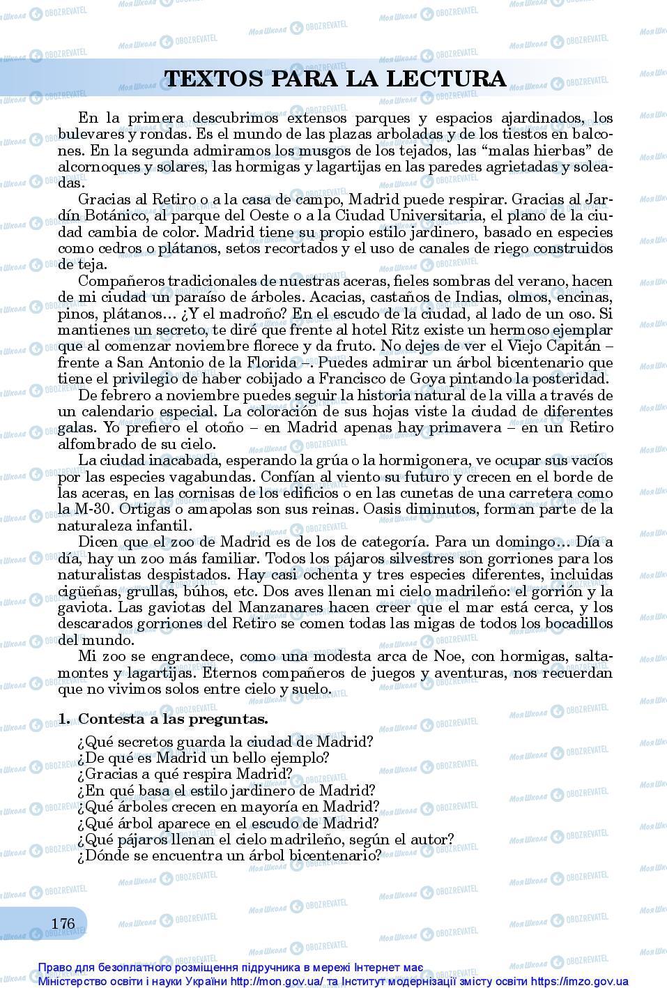 Учебники Испанский язык 10 класс страница 176
