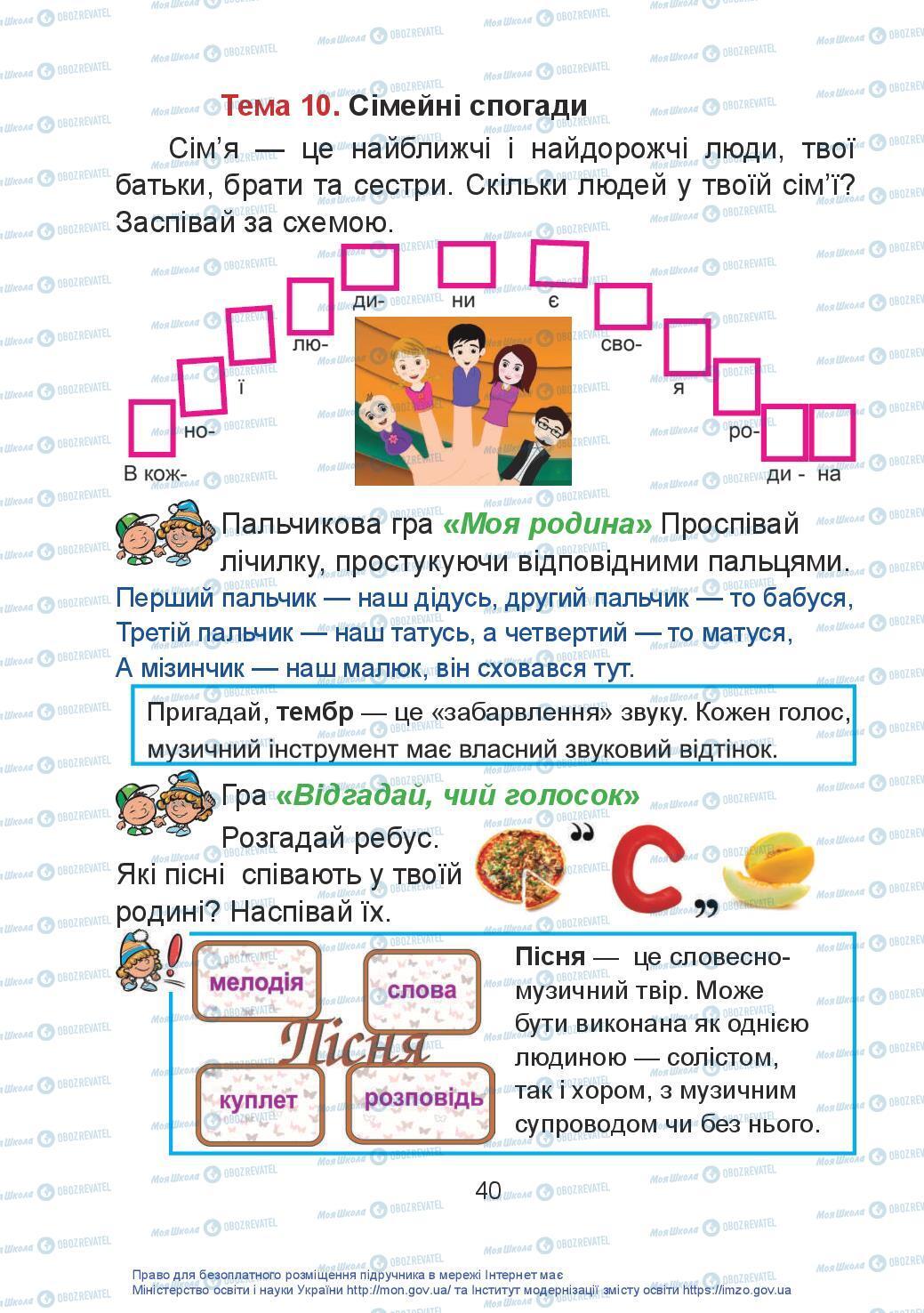 Учебники Искусство 2 класс страница 40