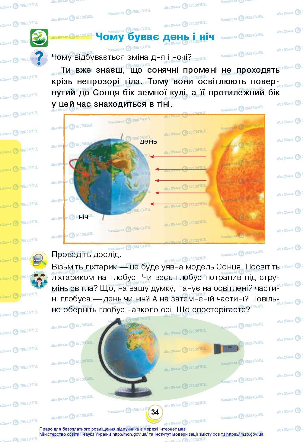 Підручники Я досліджую світ 2 клас сторінка 34