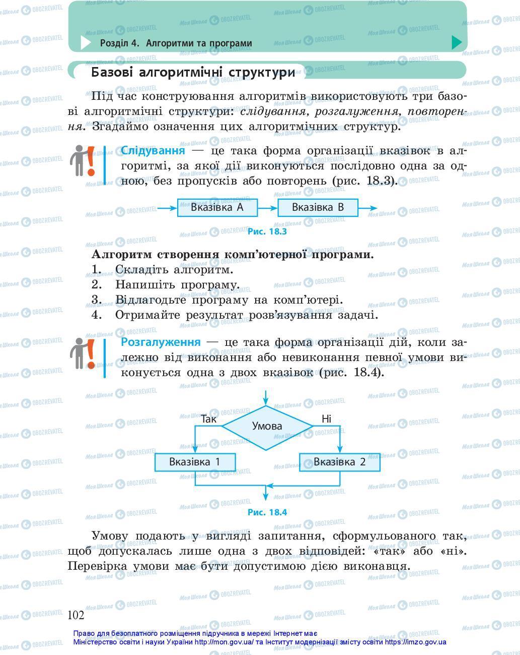 Учебники Информатика 5 класс страница 102