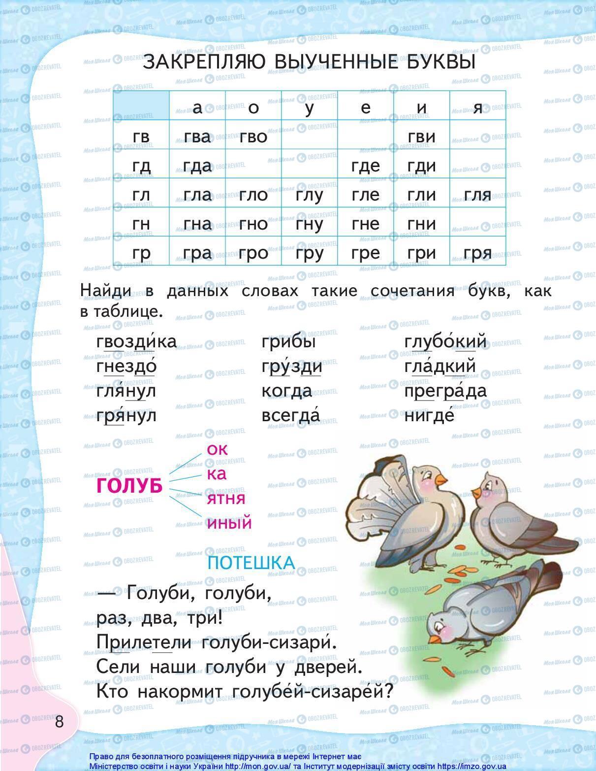 Учебники Русский язык 1 класс страница 8