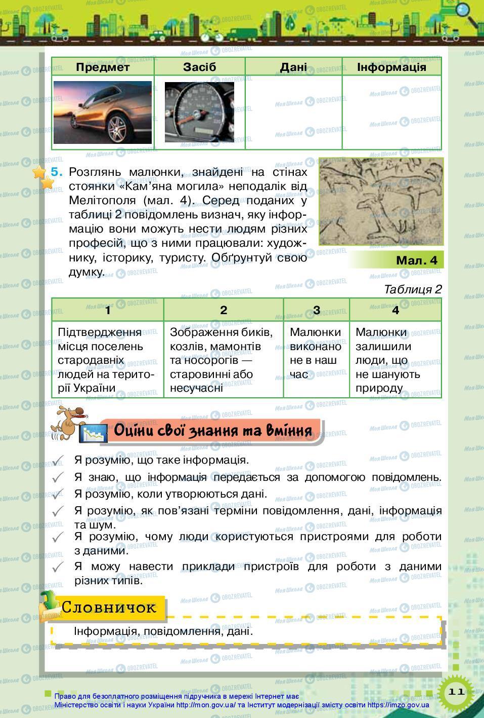 Підручники Інформатика 5 клас сторінка 11