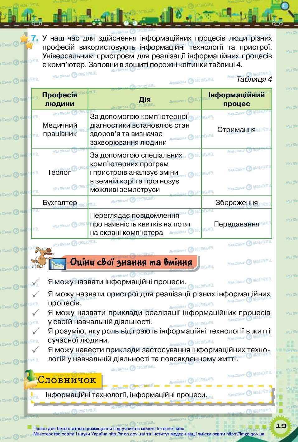 Підручники Інформатика 5 клас сторінка 19