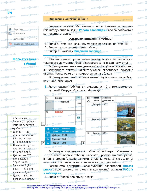 Підручники Інформатика 5 клас сторінка 94