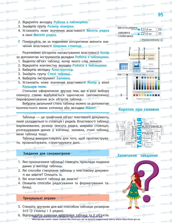Підручники Інформатика 5 клас сторінка 95