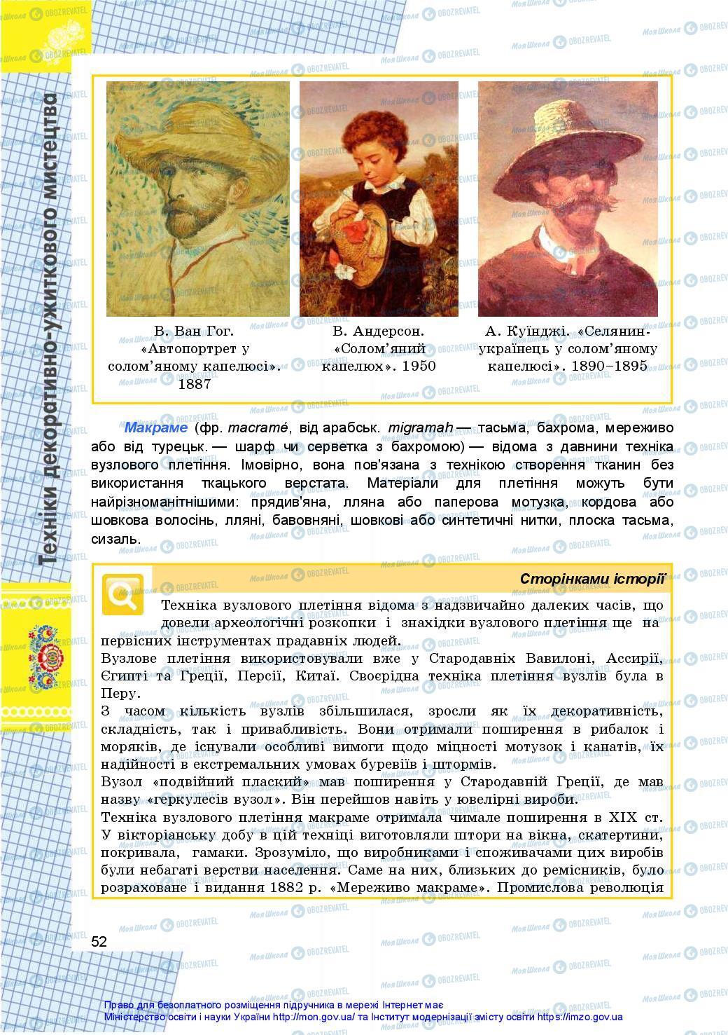 Підручники Технології 10 клас сторінка 52