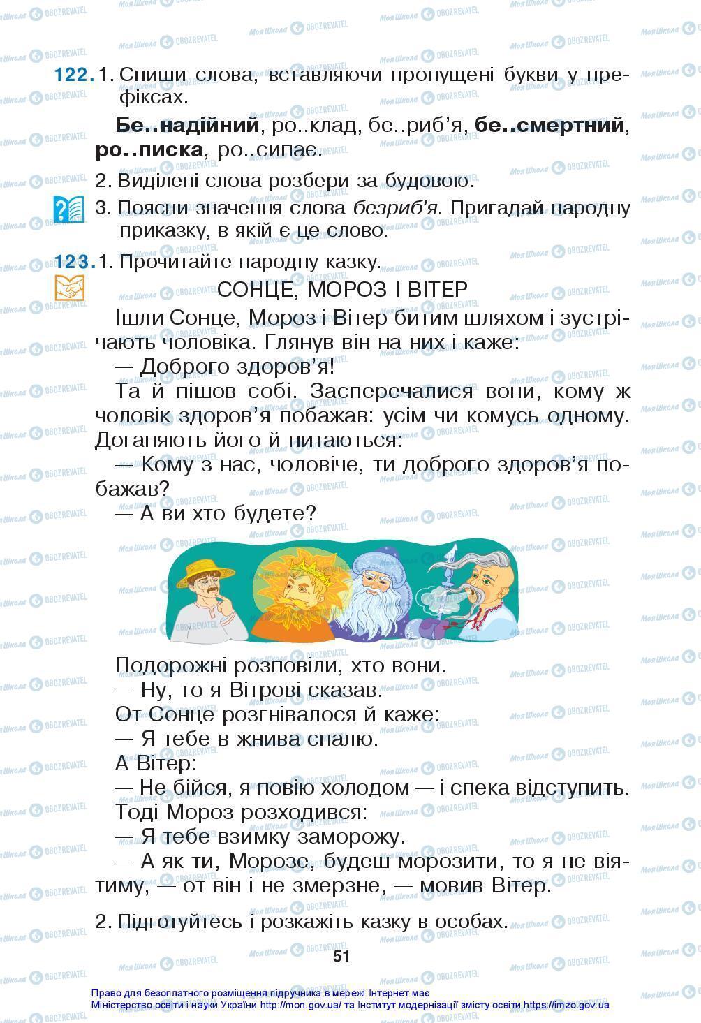 Підручники Українська мова 3 клас сторінка 51