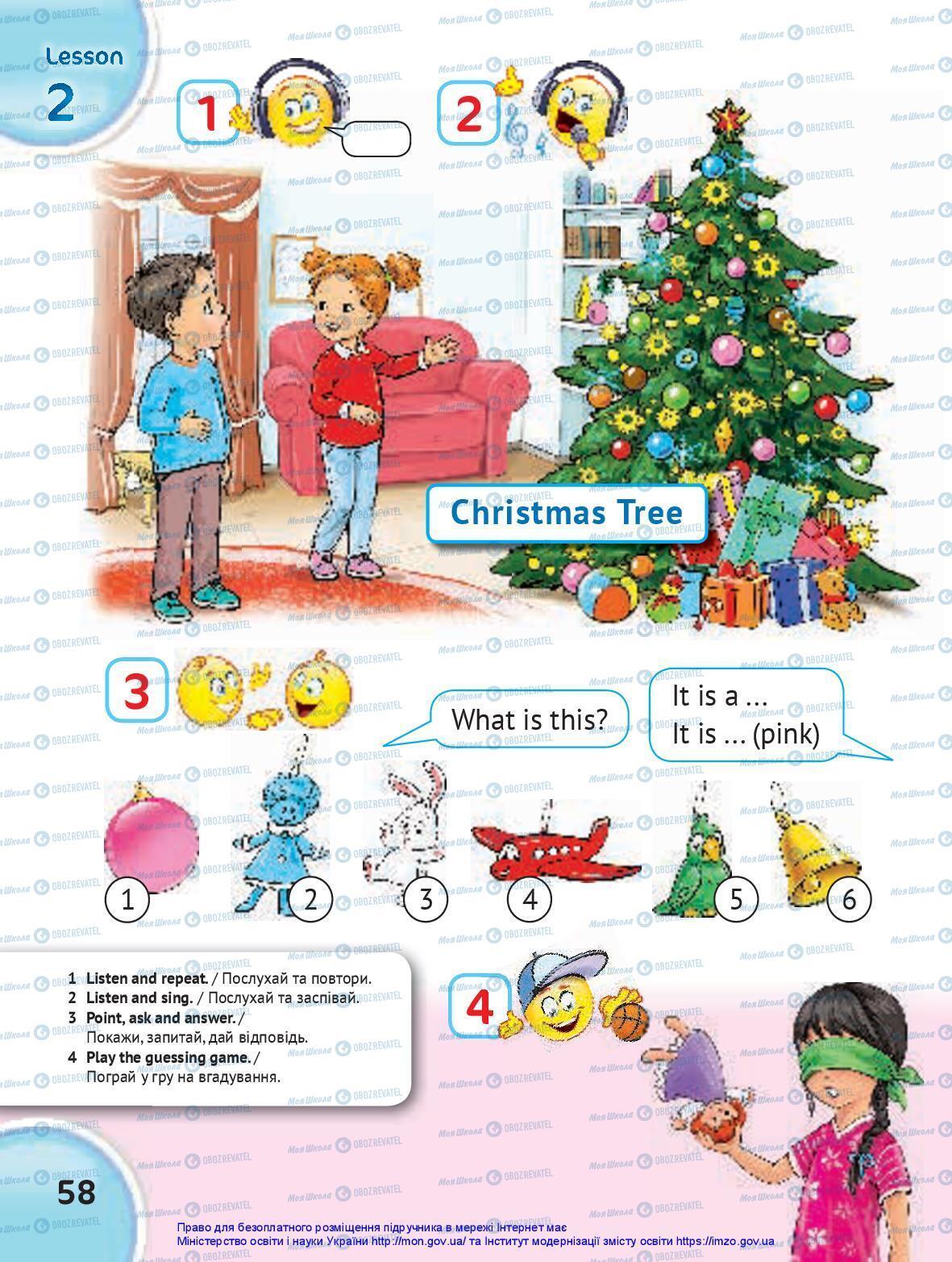 Учебники Английский язык 1 класс страница 58