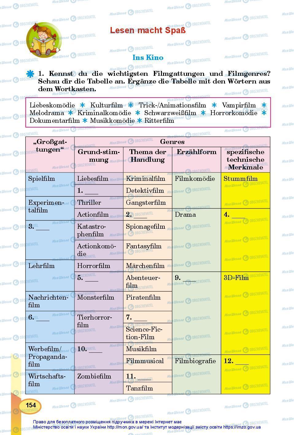 Учебники Немецкий язык 7 класс страница 154