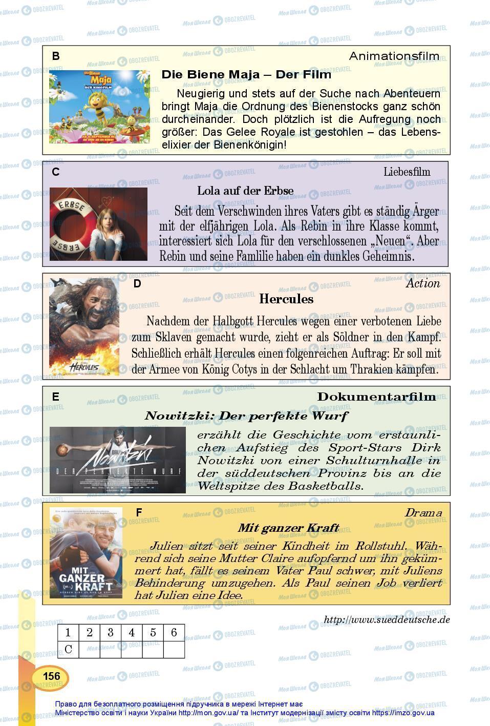 Підручники Німецька мова 7 клас сторінка 156