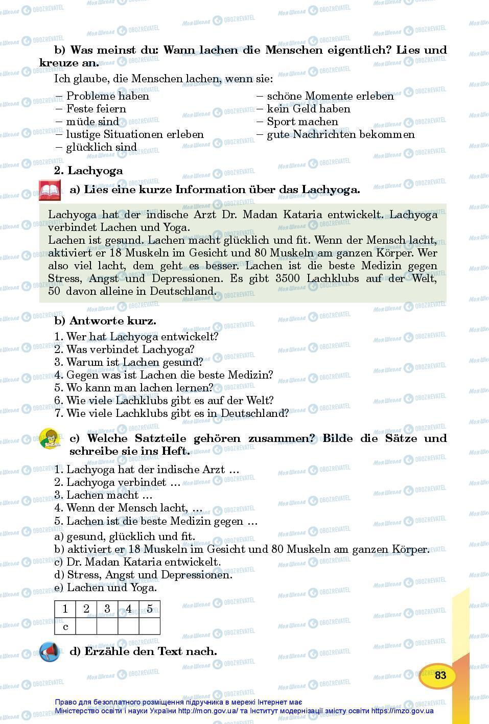Учебники Немецкий язык 7 класс страница 83