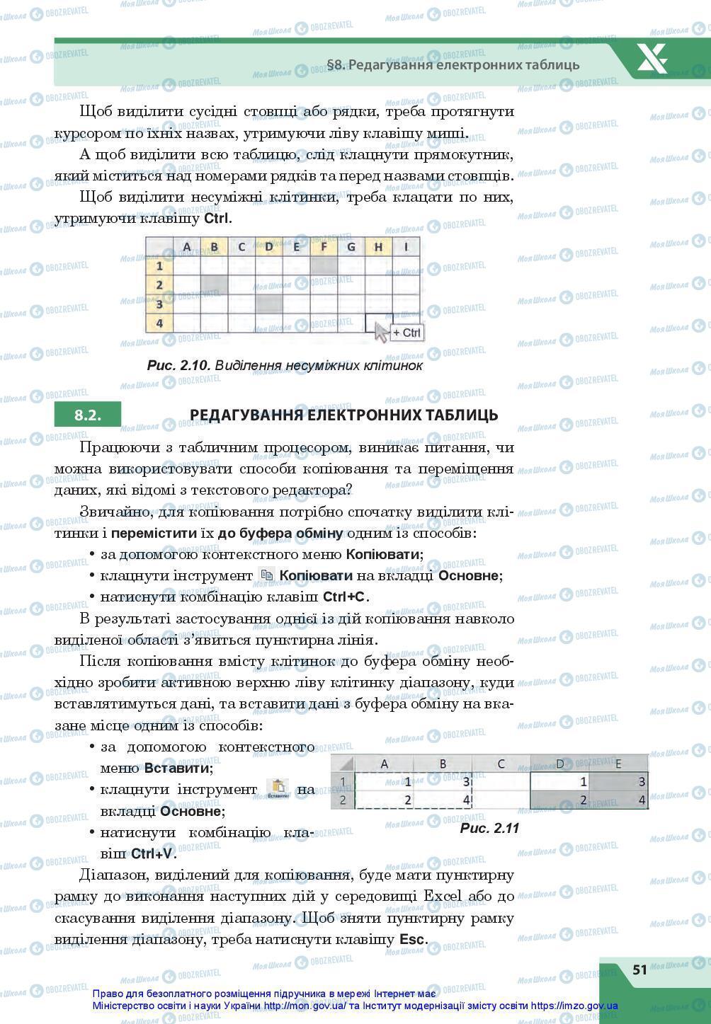 Підручники Інформатика 7 клас сторінка 51