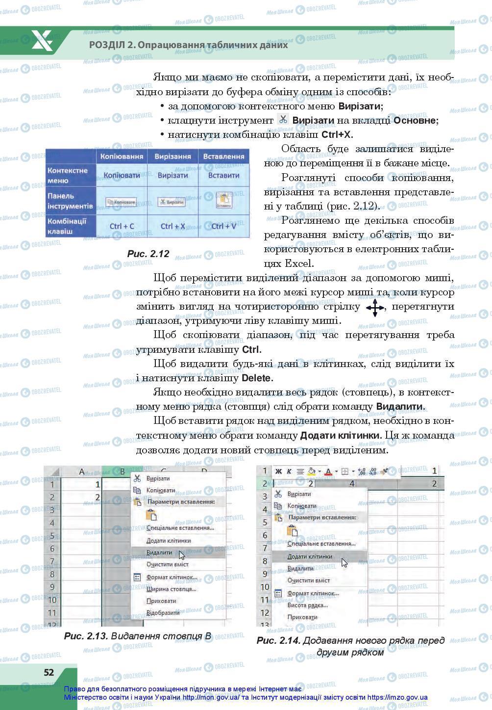 Підручники Інформатика 7 клас сторінка 52