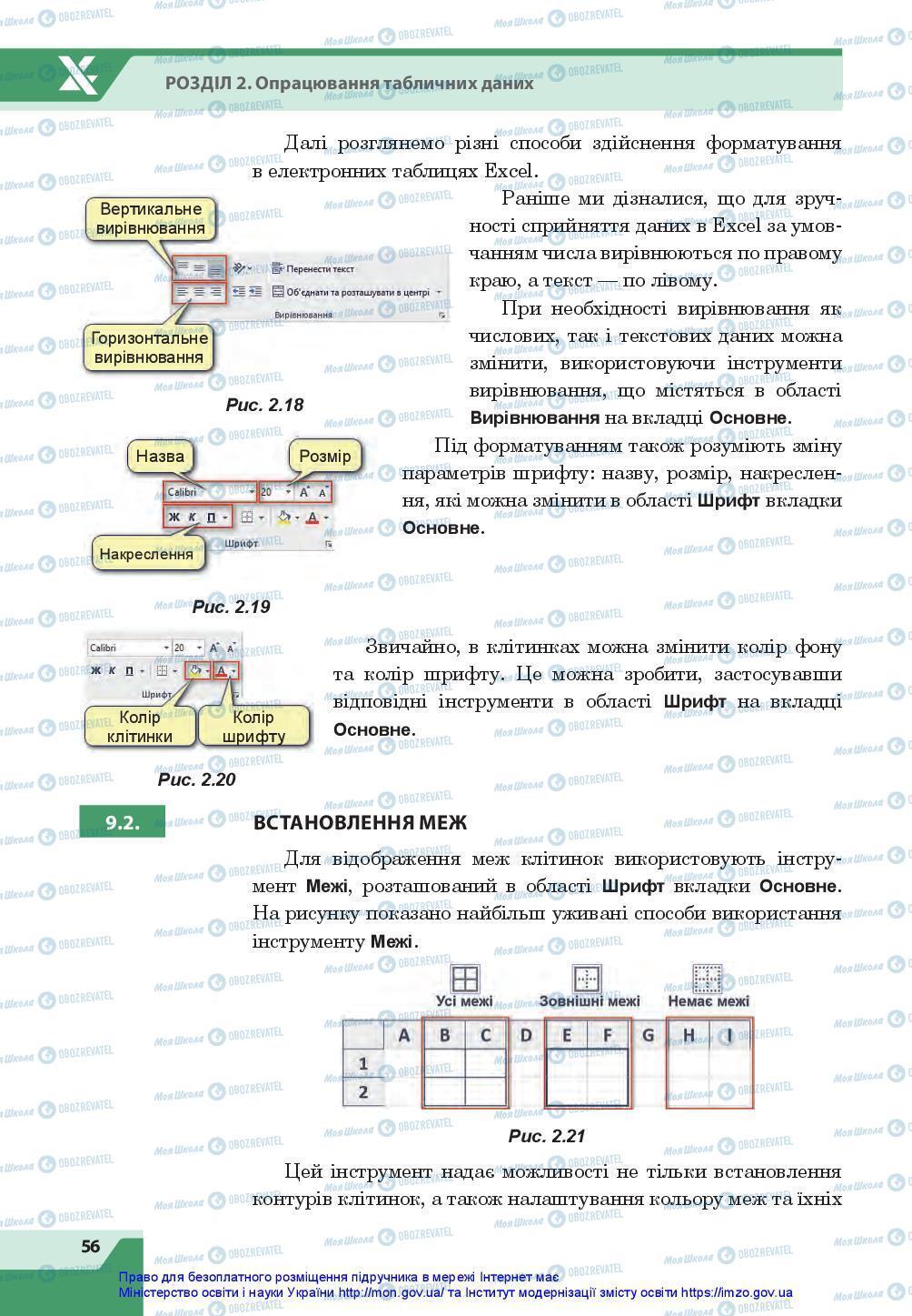 Підручники Інформатика 7 клас сторінка 56