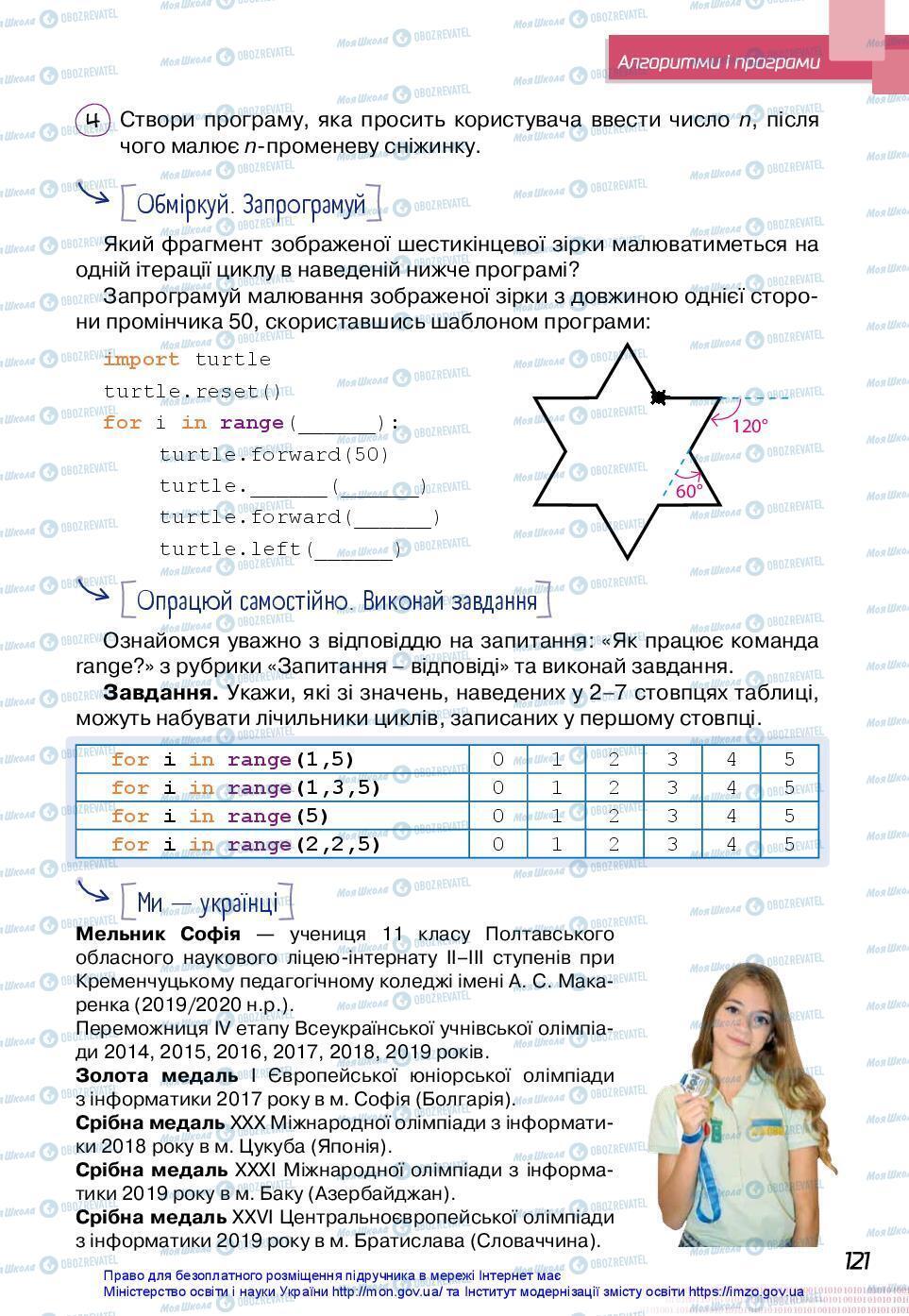 Учебники Информатика 7 класс страница 121