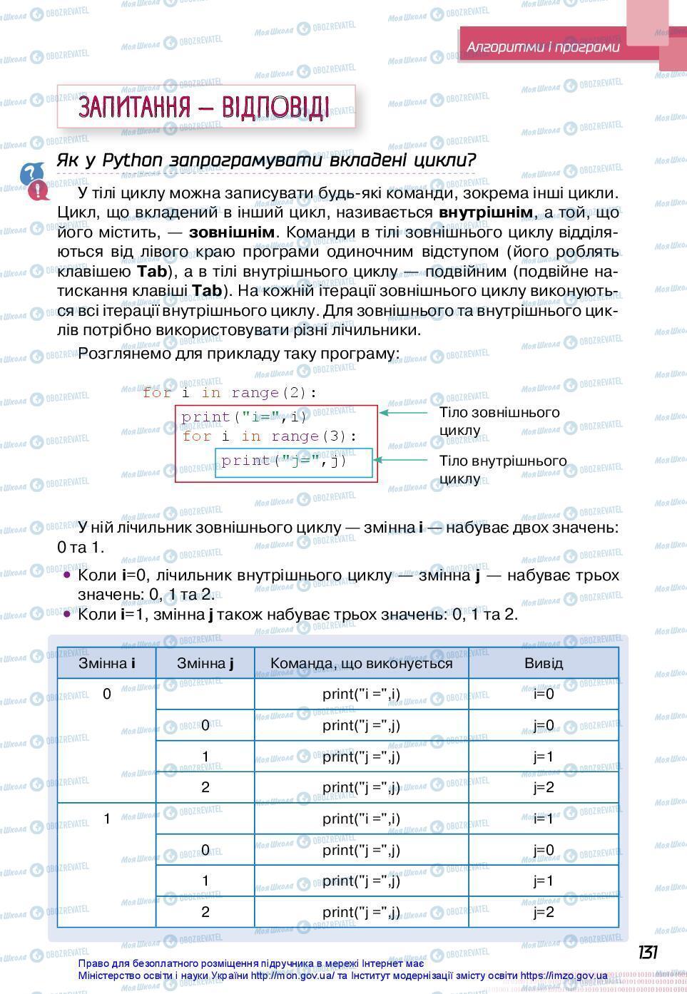 Учебники Информатика 7 класс страница 131
