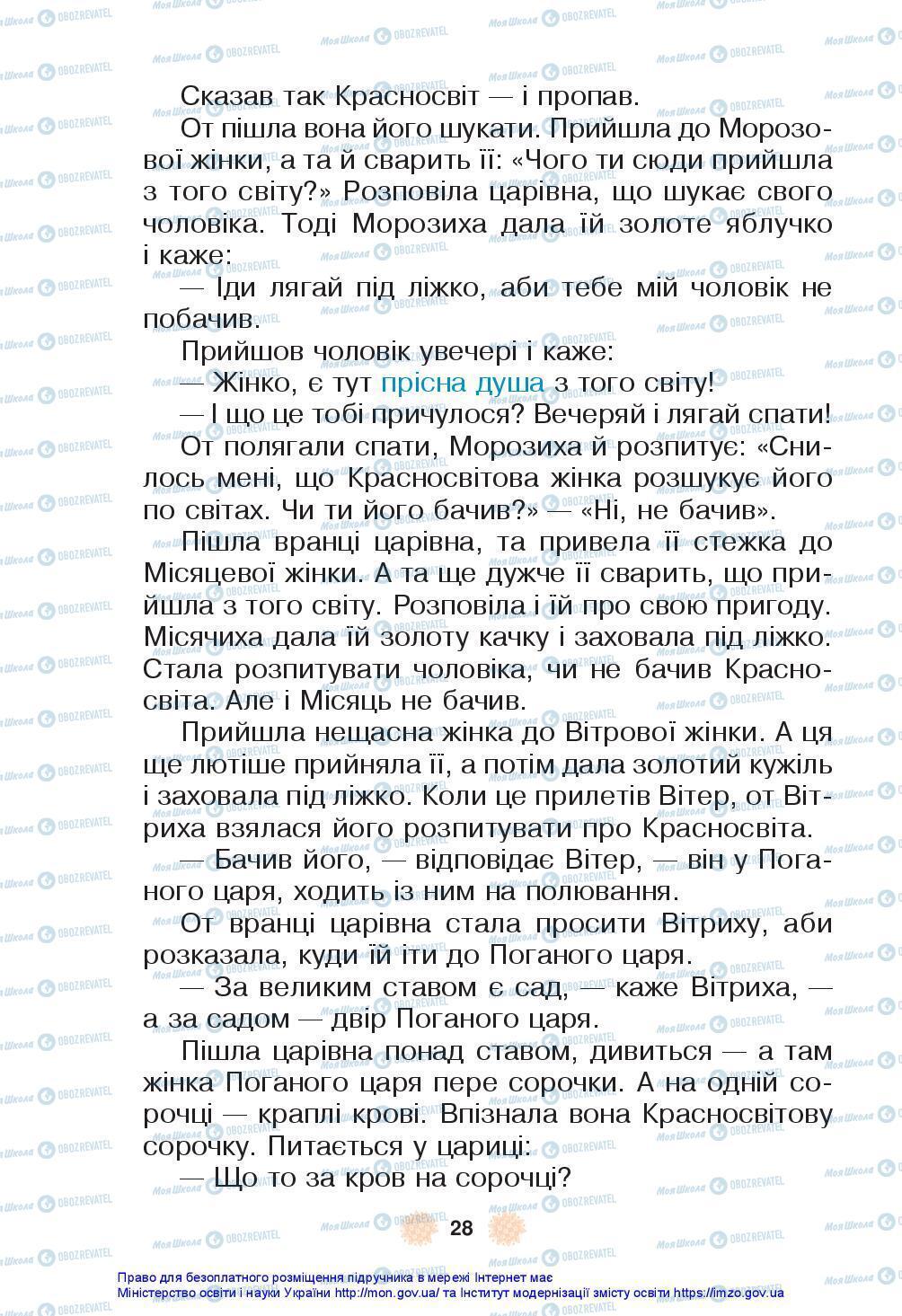 Підручники Українська мова 3 клас сторінка 28