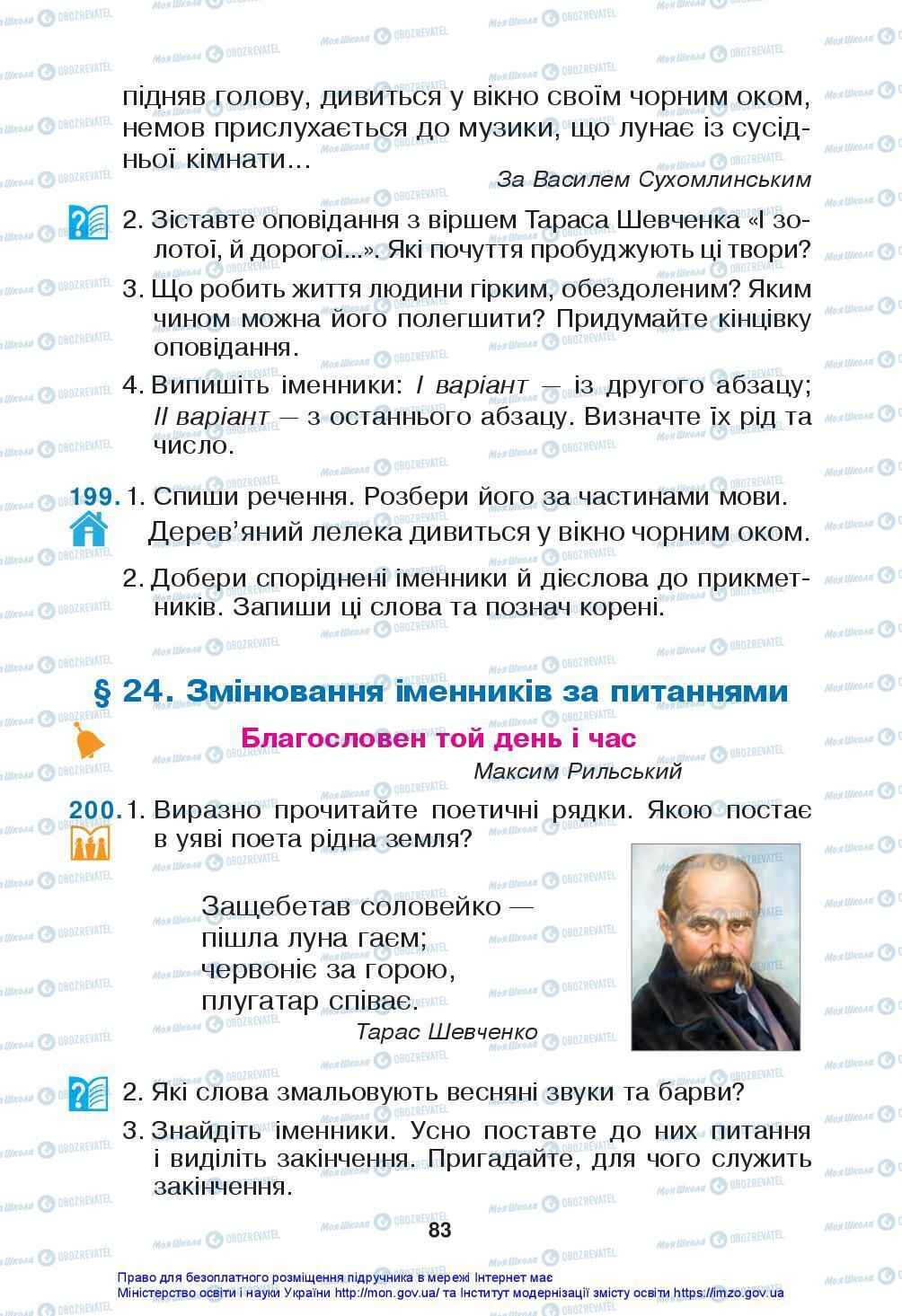 Підручники Українська мова 3 клас сторінка 83