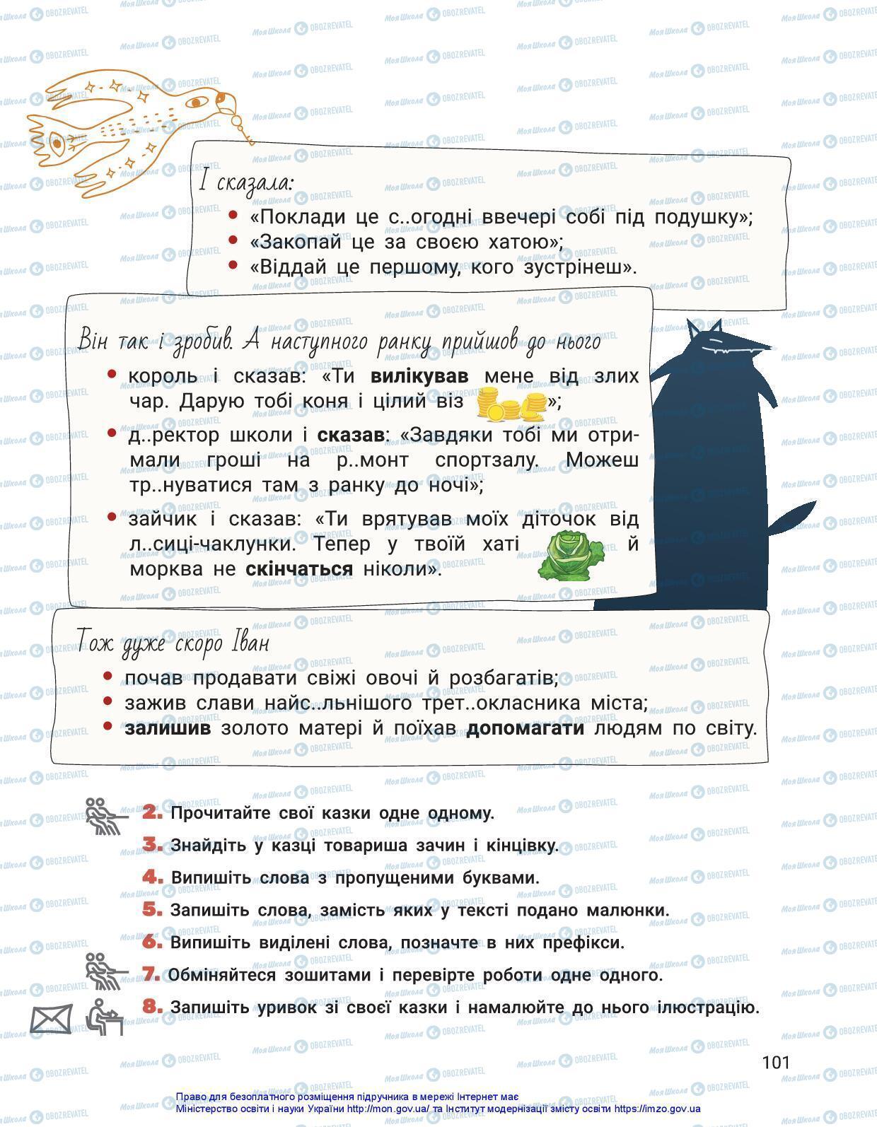 Підручники Українська мова 3 клас сторінка 101