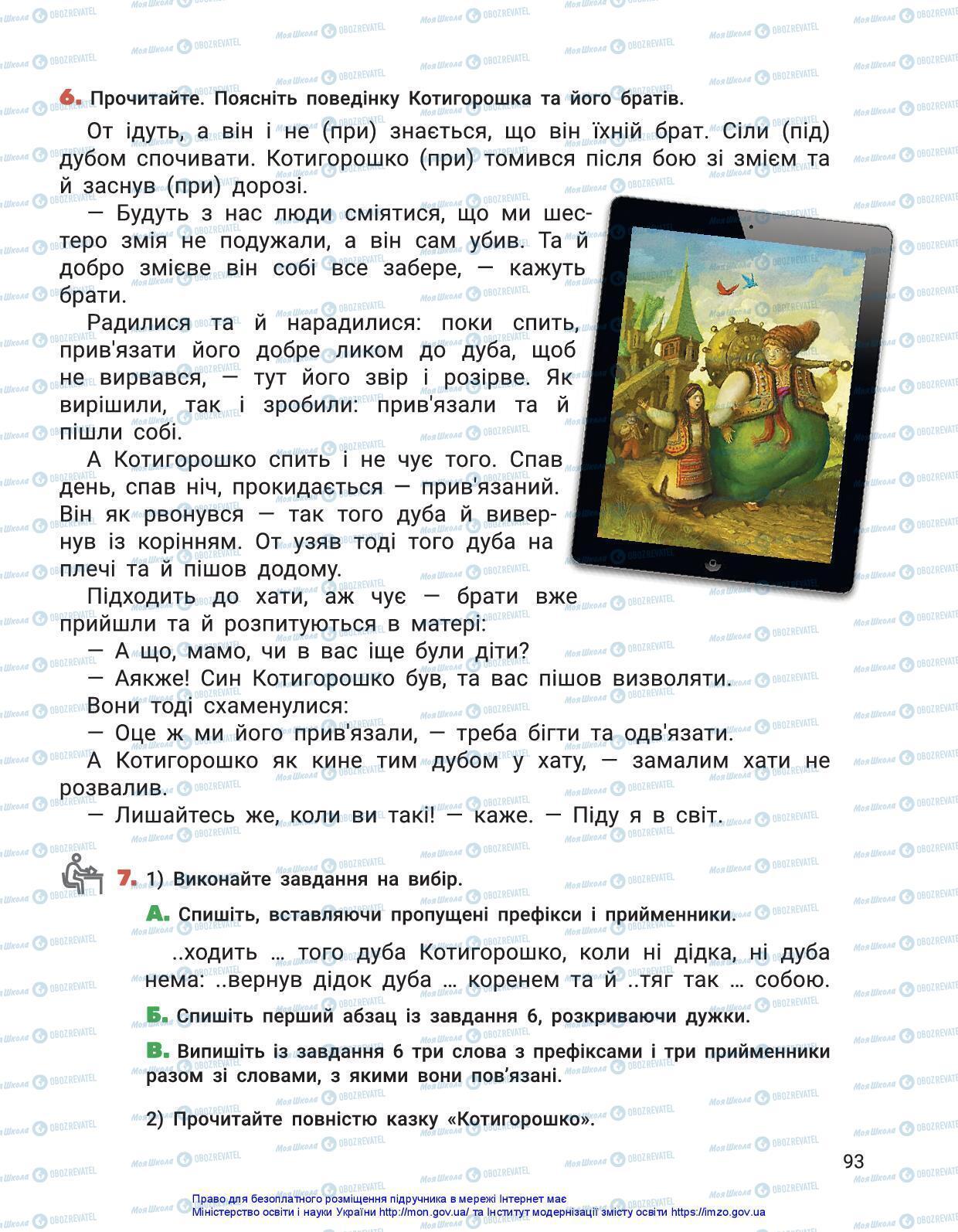 Підручники Українська мова 3 клас сторінка 93