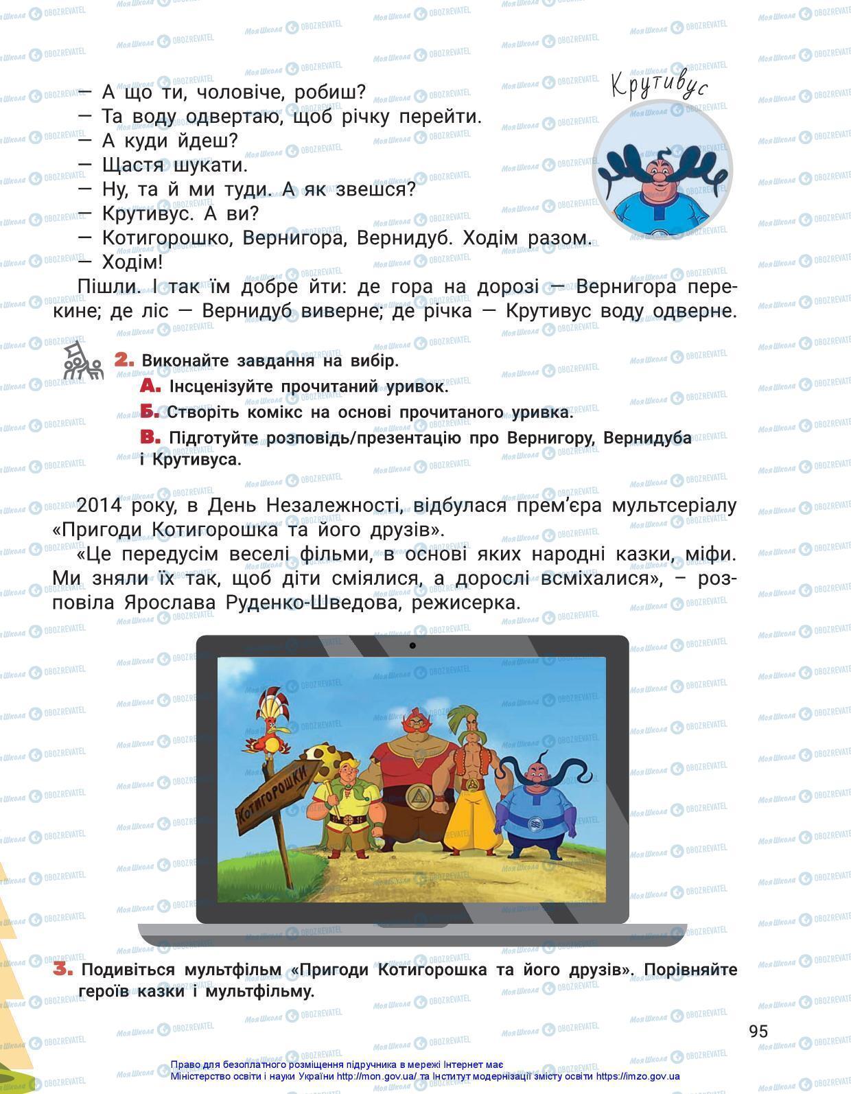 Підручники Українська мова 3 клас сторінка 95