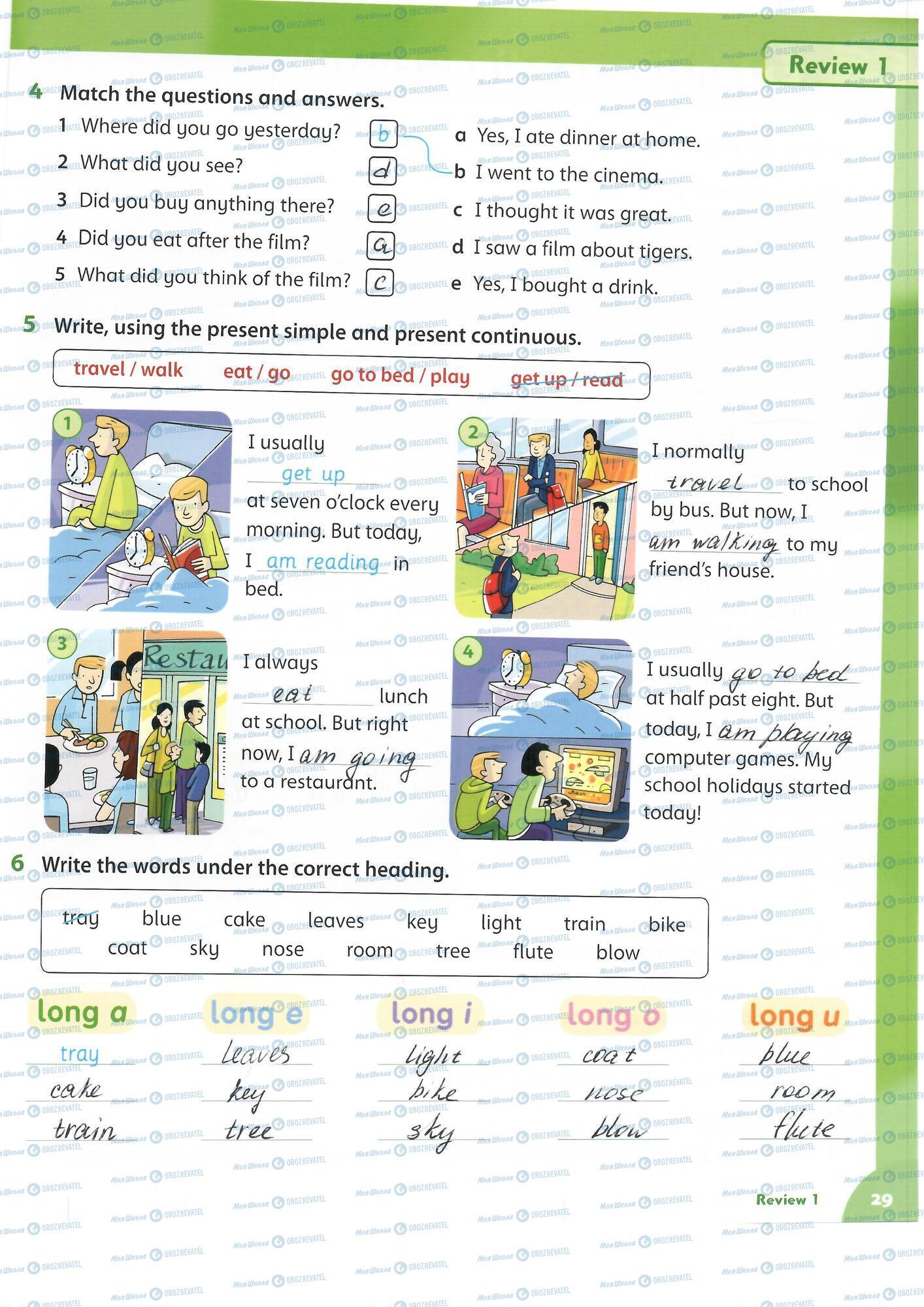 ГДЗ Английский язык 4 класс страница 29