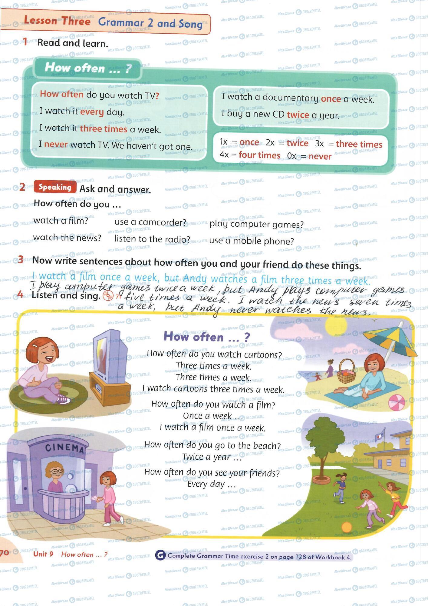 ГДЗ Английский язык 4 класс страница 70