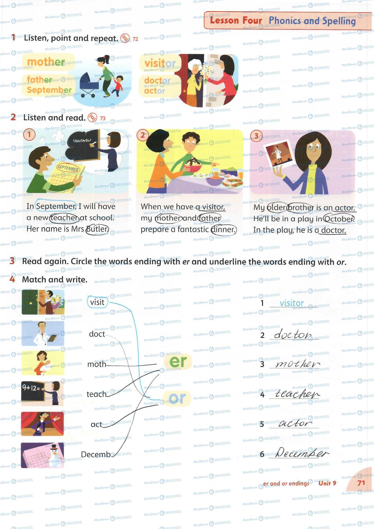 ГДЗ Англійська мова 4 клас сторінка 71