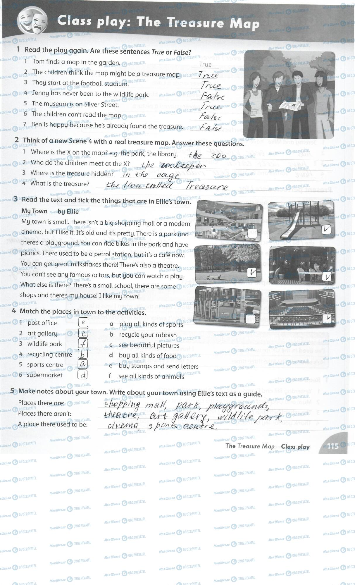 ГДЗ Англійська мова 5 клас сторінка 115