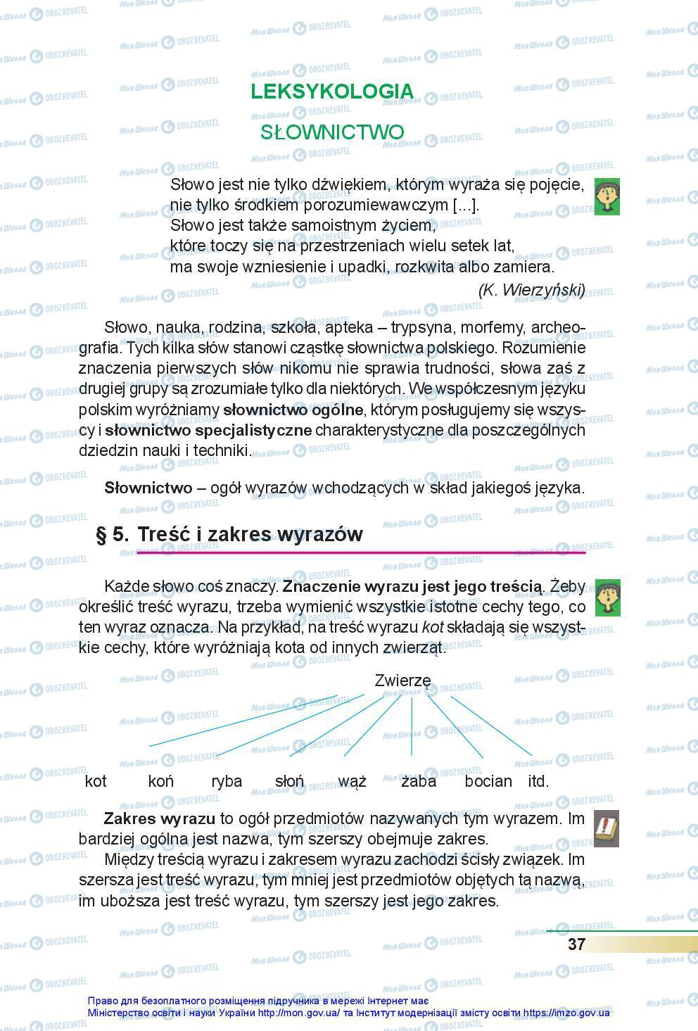 Підручники Польська мова 7 клас сторінка 37