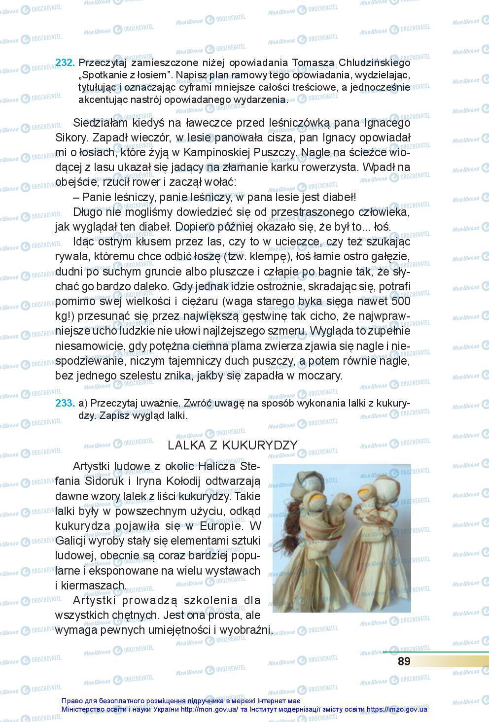 Підручники Польська мова 7 клас сторінка 89