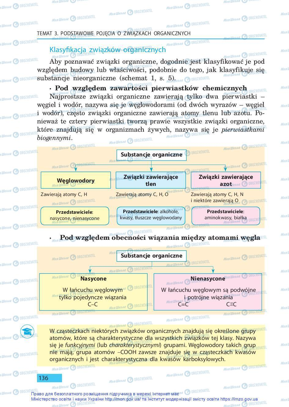 Підручники Хімія 9 клас сторінка 136