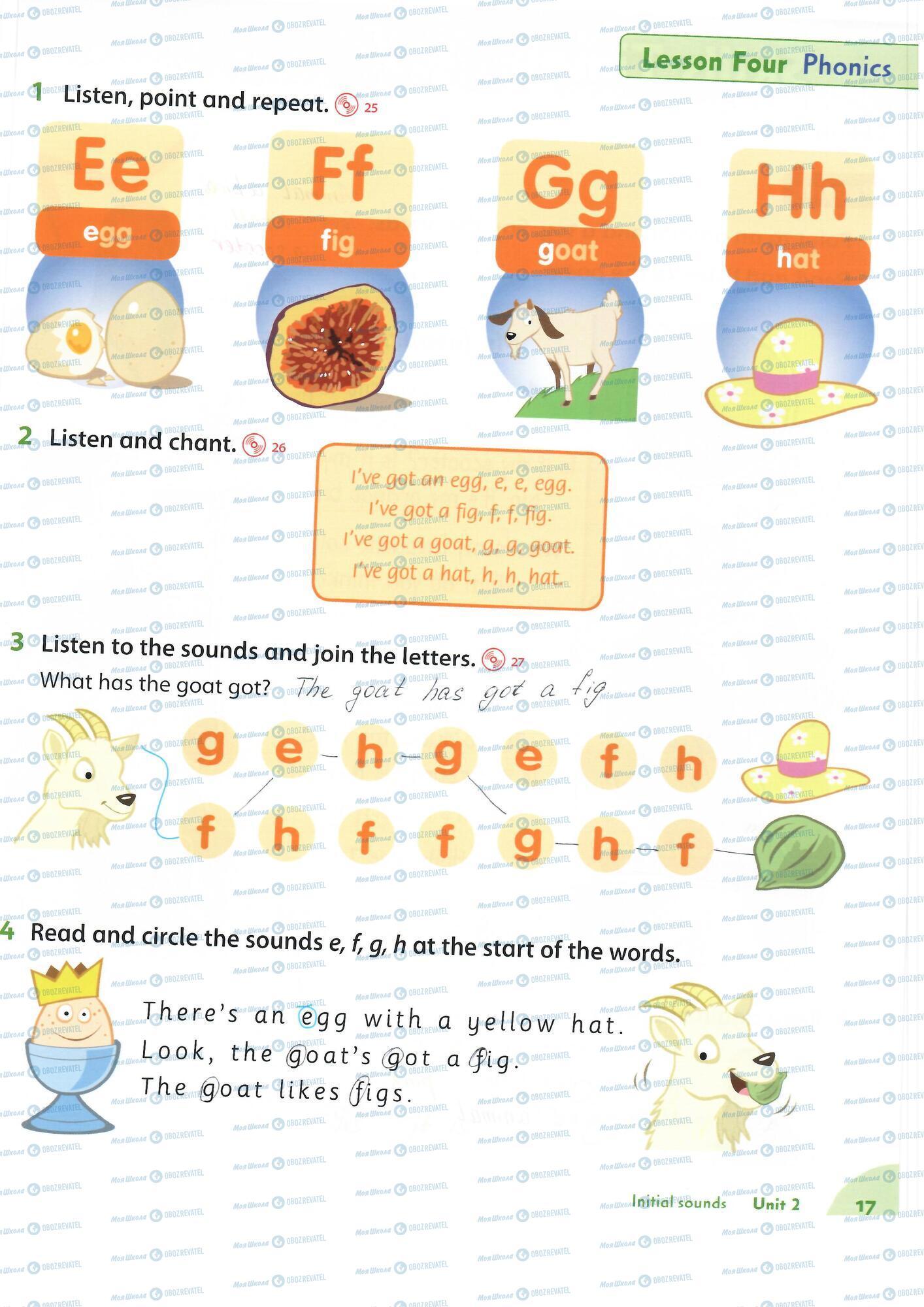 ГДЗ Англійська мова 1 клас сторінка 17