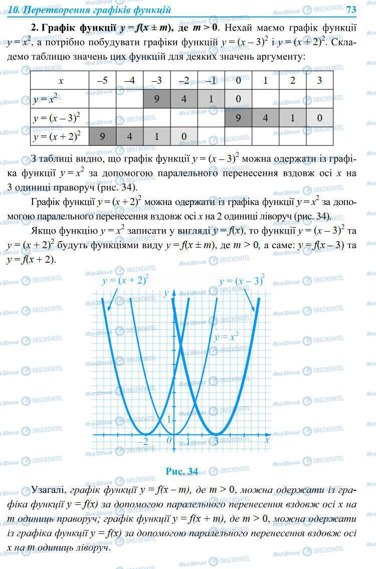 Учебники Алгебра 9 класс страница 73