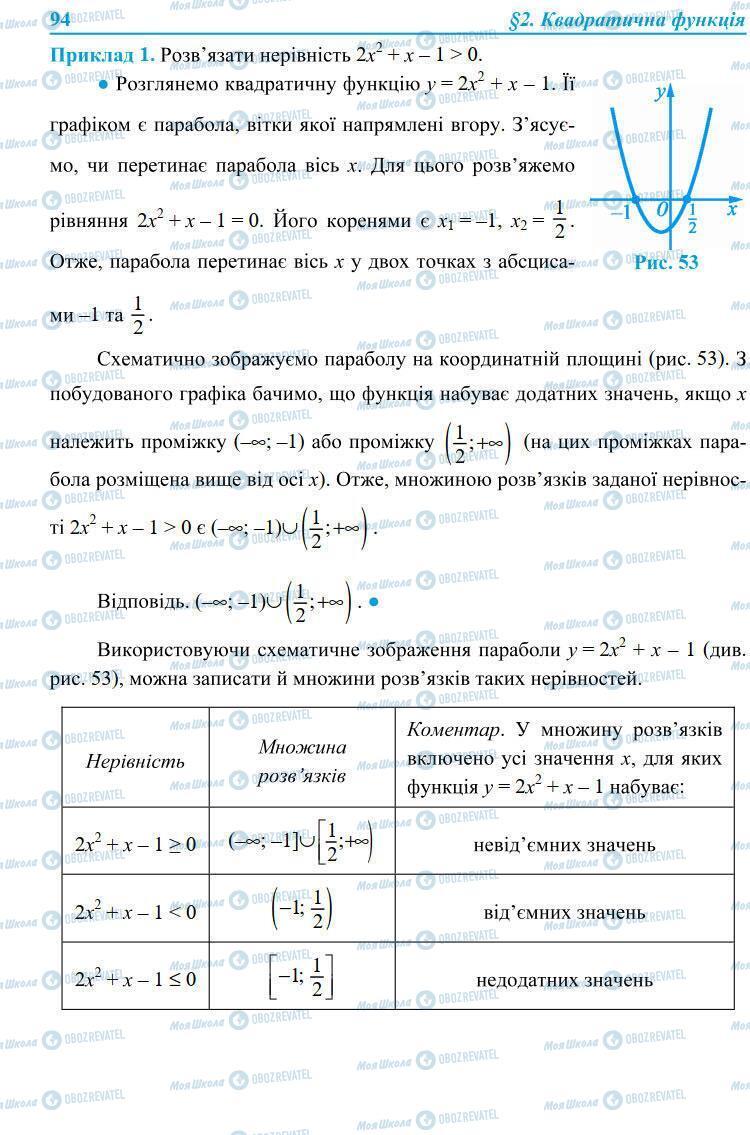 Учебники Алгебра 9 класс страница 94