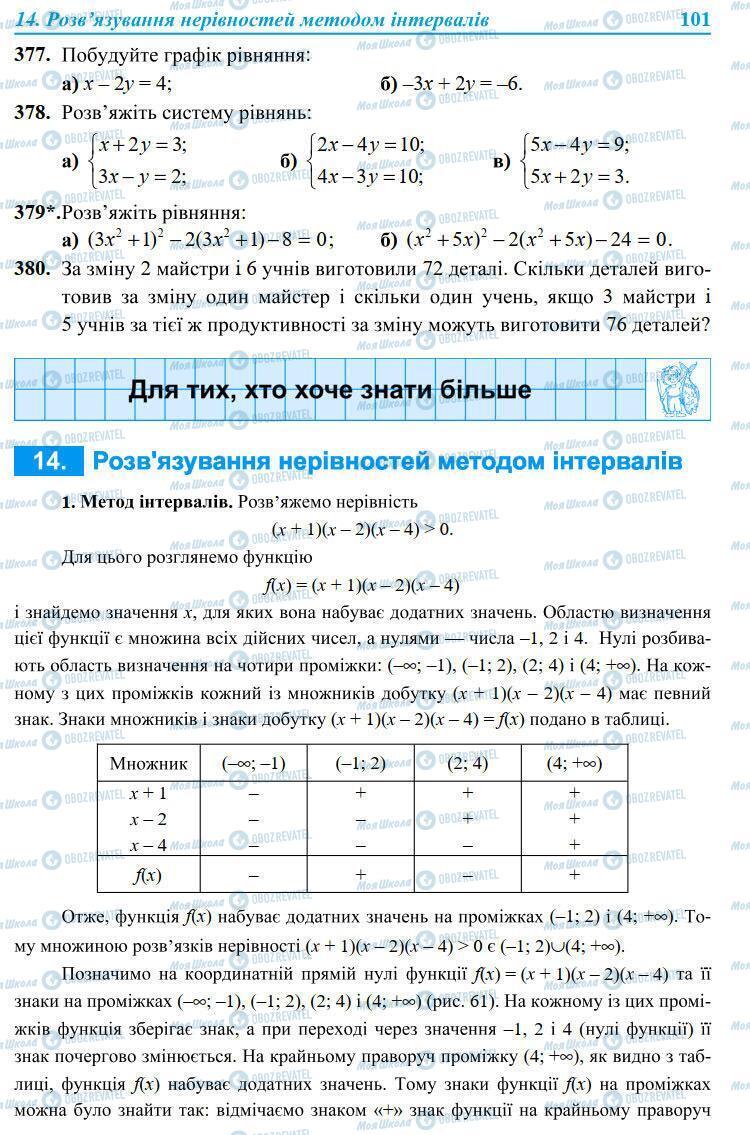 Учебники Алгебра 9 класс страница 101