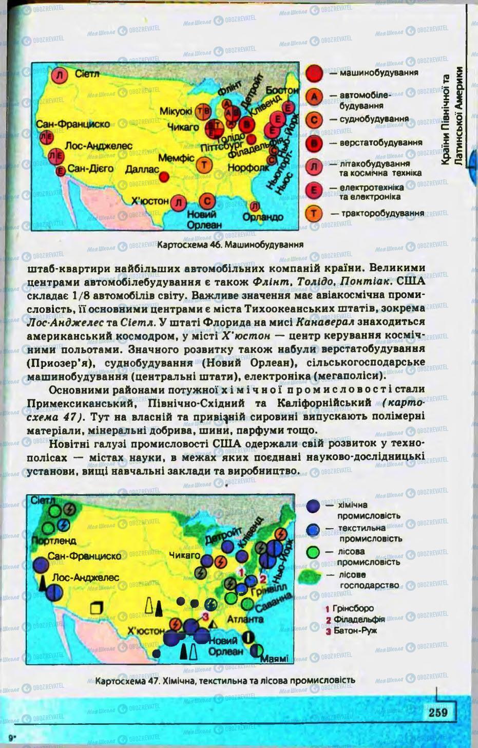 Підручники Географія 10 клас сторінка 259